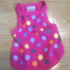 Pink polka dot dog dress